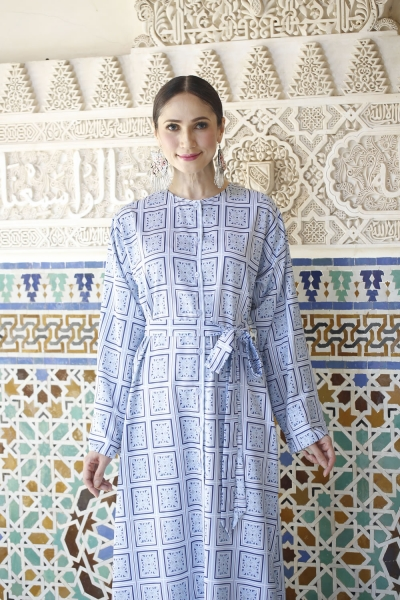 Sophia Long Tunic - Baby Blue