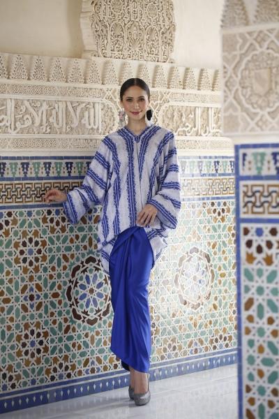 Aafiyah Baju Kurung - Imperial Blue